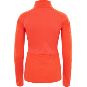 The North Face W's Ambition 1/4 Zip Long Sleeve Shirt Fire Brick Red Heather/Fire Brick Red